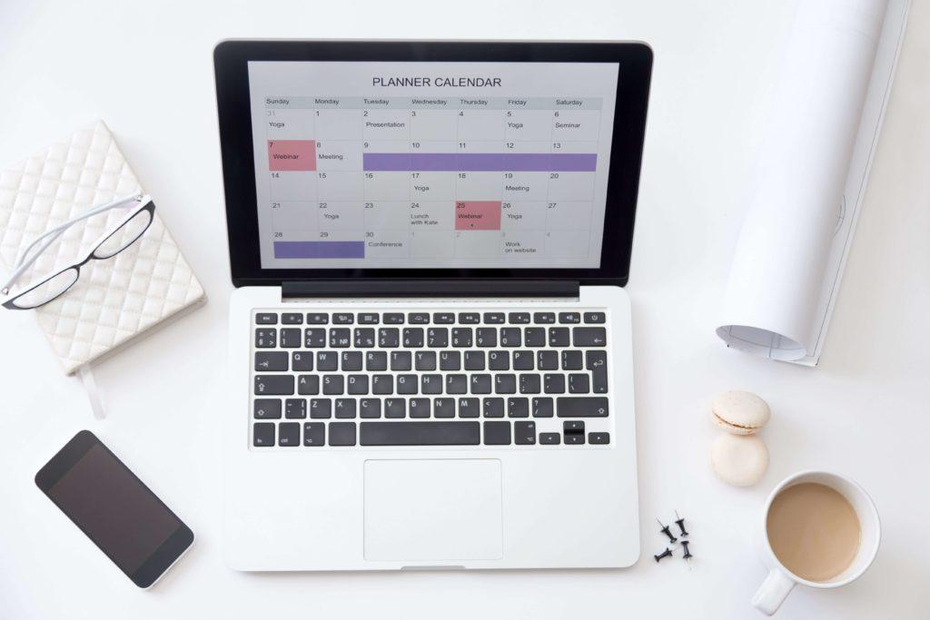 Planifier temps pour soi - calendrier