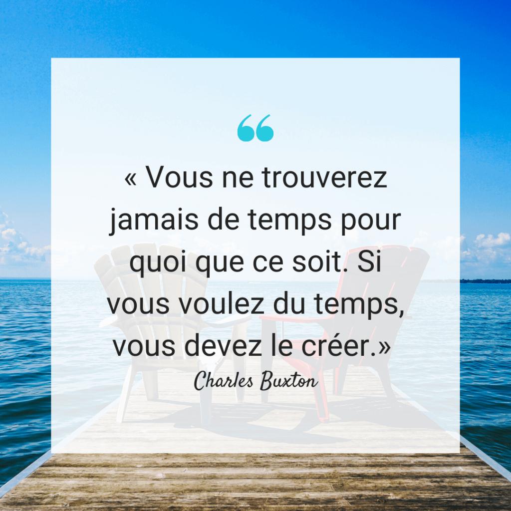 Citation Temps Charles Buxton - Vous ne trouverez jamais de temps pour quoi que ce soit. Si vous voulez du temps vous devez le créer
