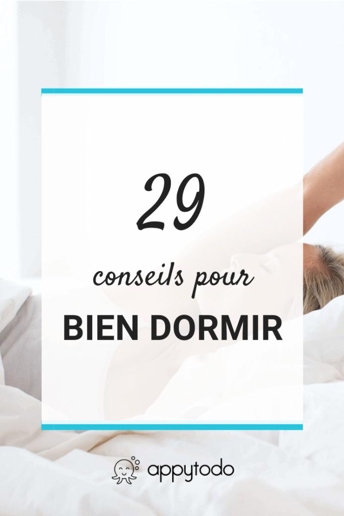 29 conseils pour bien dormir
