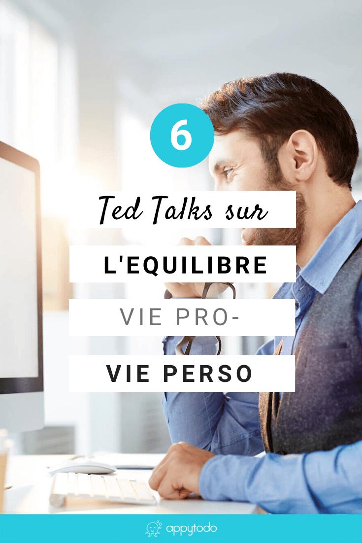 Comment trouver l'équilibre entre vie professionnelle et vie personnelle ? Découvrez 6 Ted Talks inspirants pour vous guider dans votre réflexion sur l'équilibre entre travail, famille et vie privée.  Ceci est une sélection de appytodo, le coup de pouce pour une vie pro et perso épanouie.  via @catherineappytodo