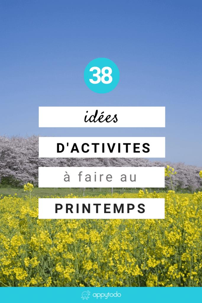 38 idées d'activités à faire au printemps