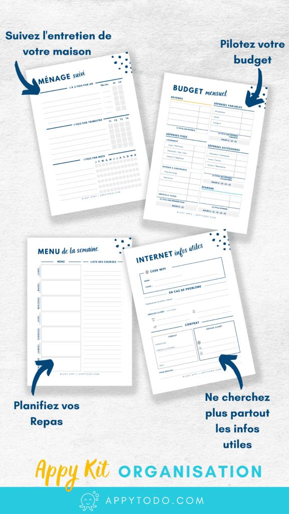 Fiches PDF pour classeur maison à imprimer et compléter