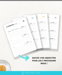 Appy 365 Planner : Les objectifs du trimestre