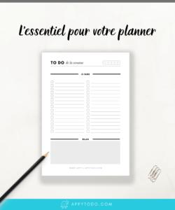 To Do Liste à imprimer - Appy 365 Planner