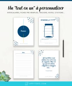 L'Appy kit organisation : un tout en un à personnaliser pour organisateur familial et classeur maison