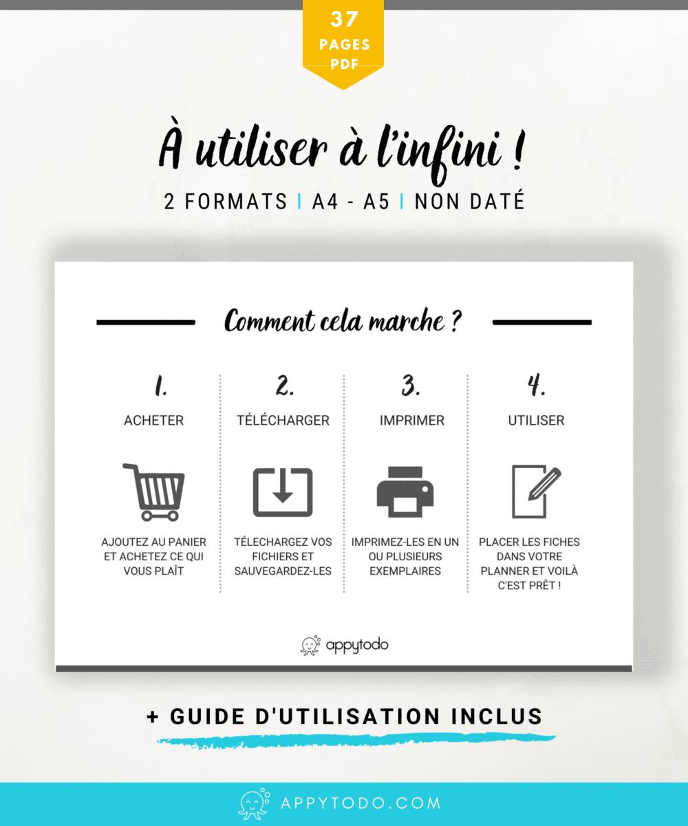 Planner au format printable en français