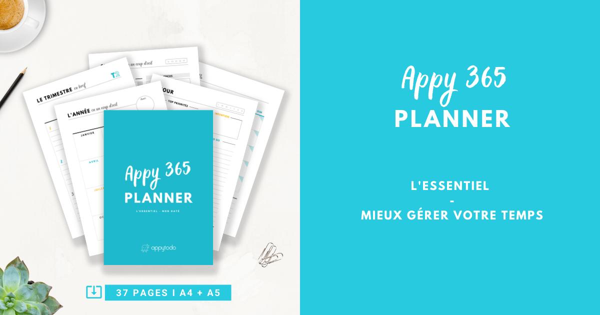 Appy 365 Planner : L'essentiel pour mieux gérer son temps
