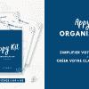 Appy Kit Organisation : faire votre classeur maison - simplifier votre quotidien avec une organisation familial au top