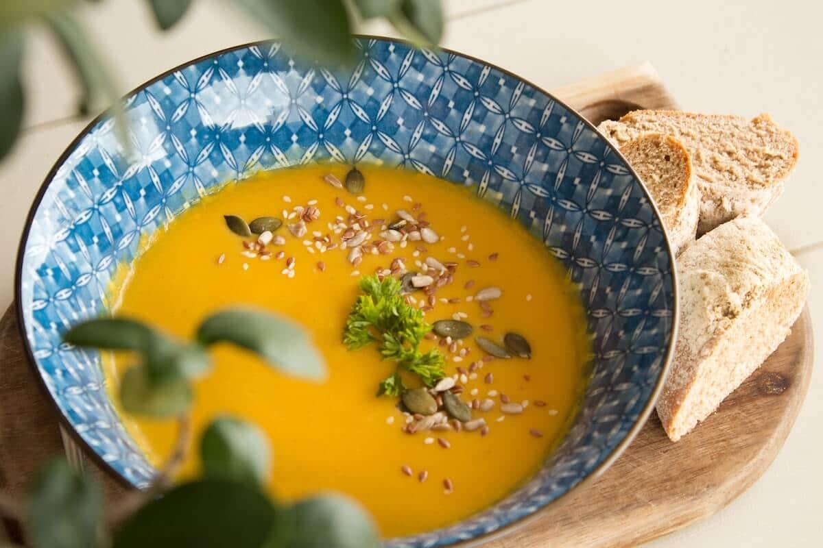 Repas automnale : soupe au potiron
