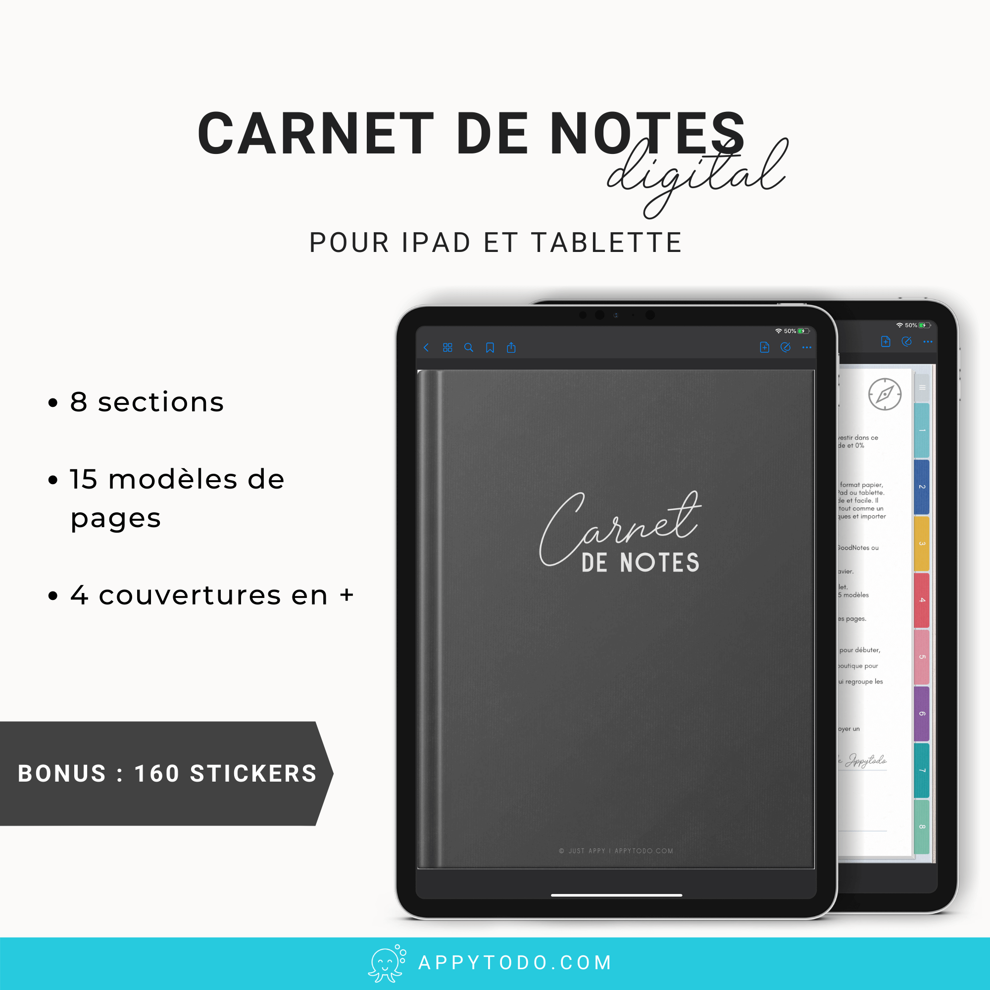 Carnet de notes digital pour Ipad et tablette