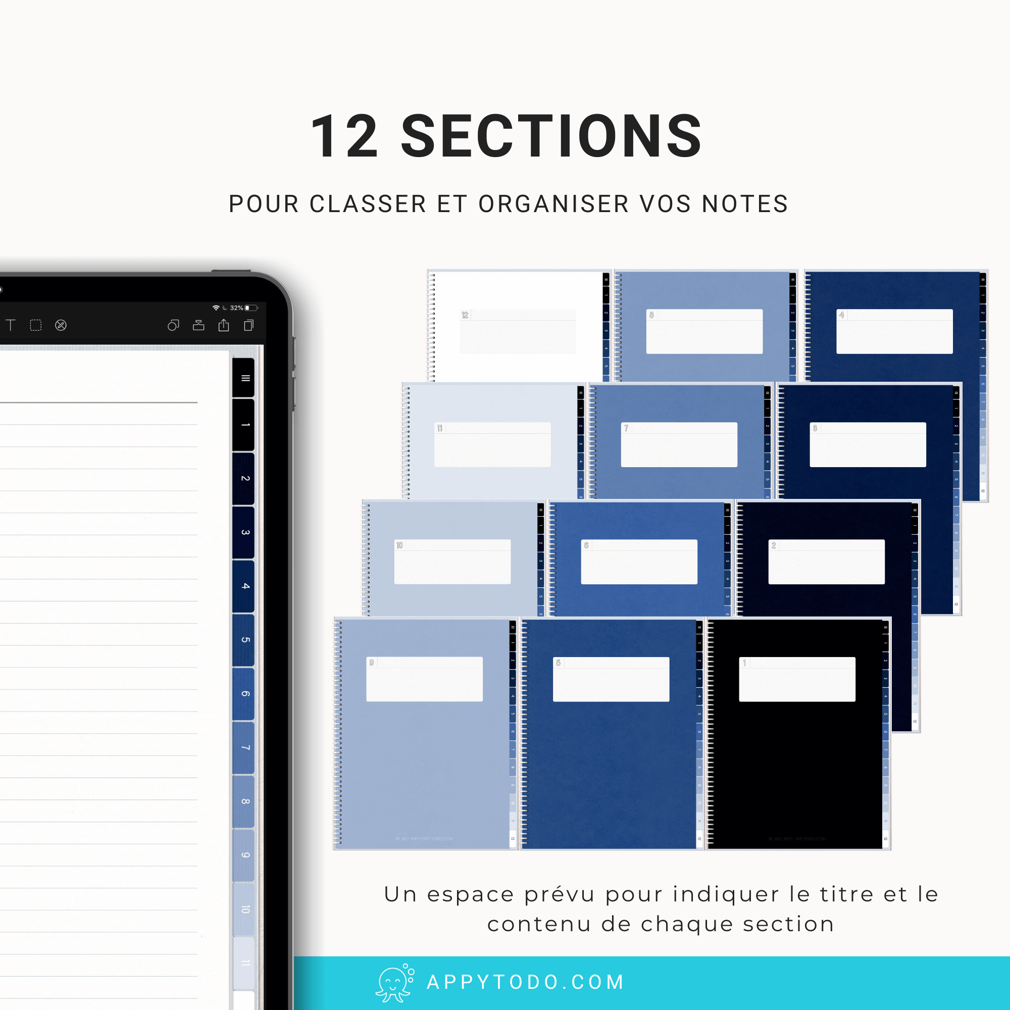 Carnet digital 12 sections