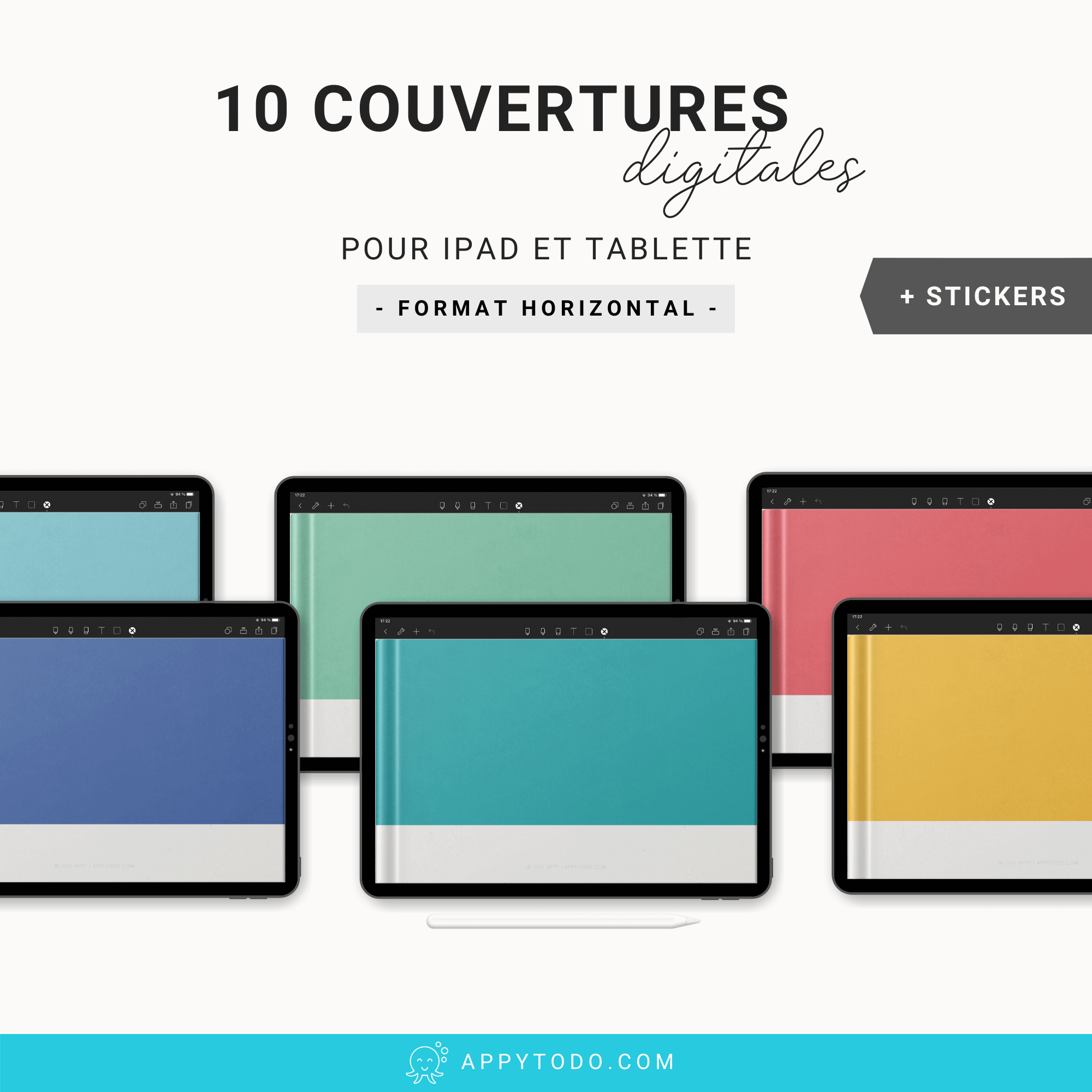 10 couvertures digitales horizontales