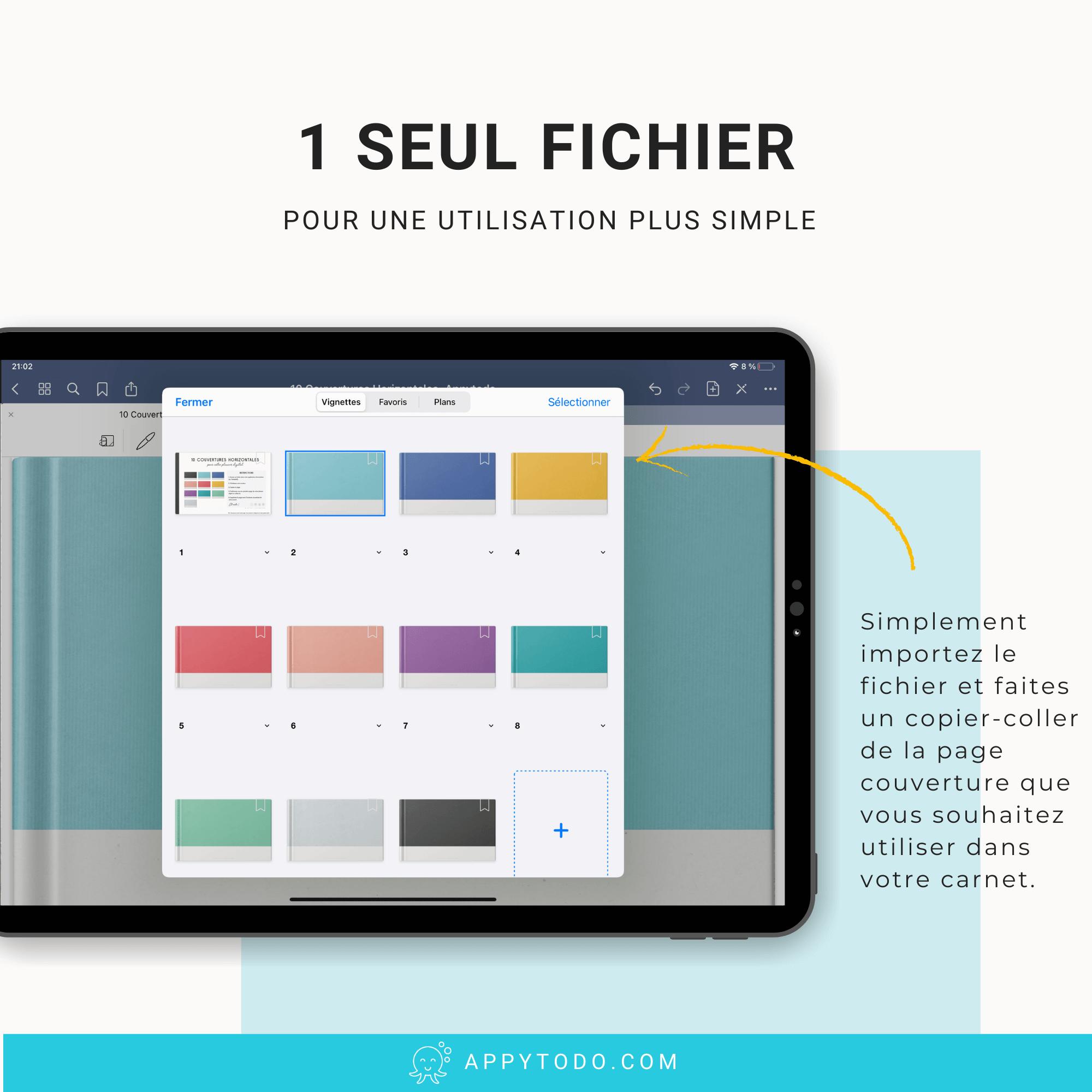 Changer les couvertures de vos planners et carnets numériques