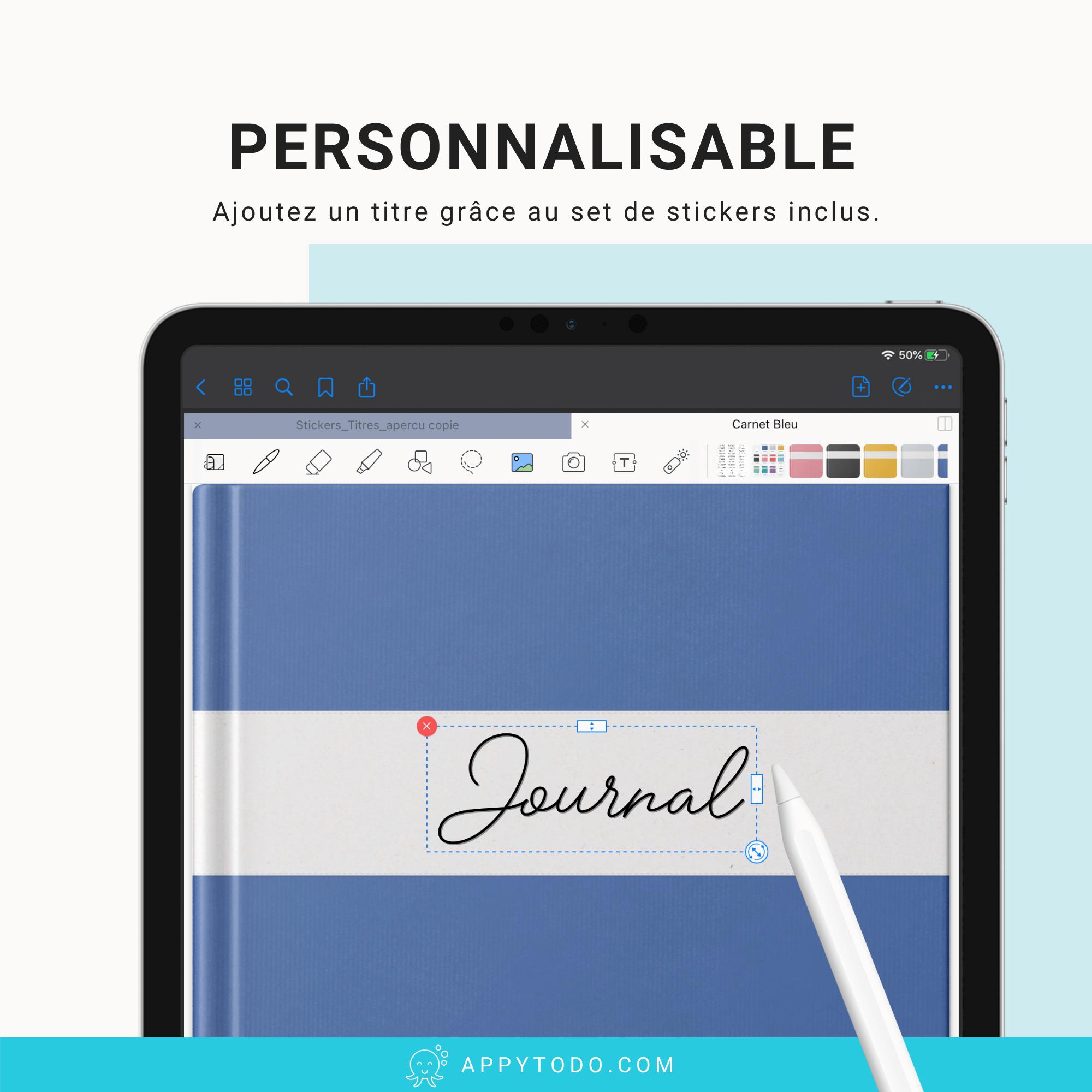 Couverture numérique personnalisable