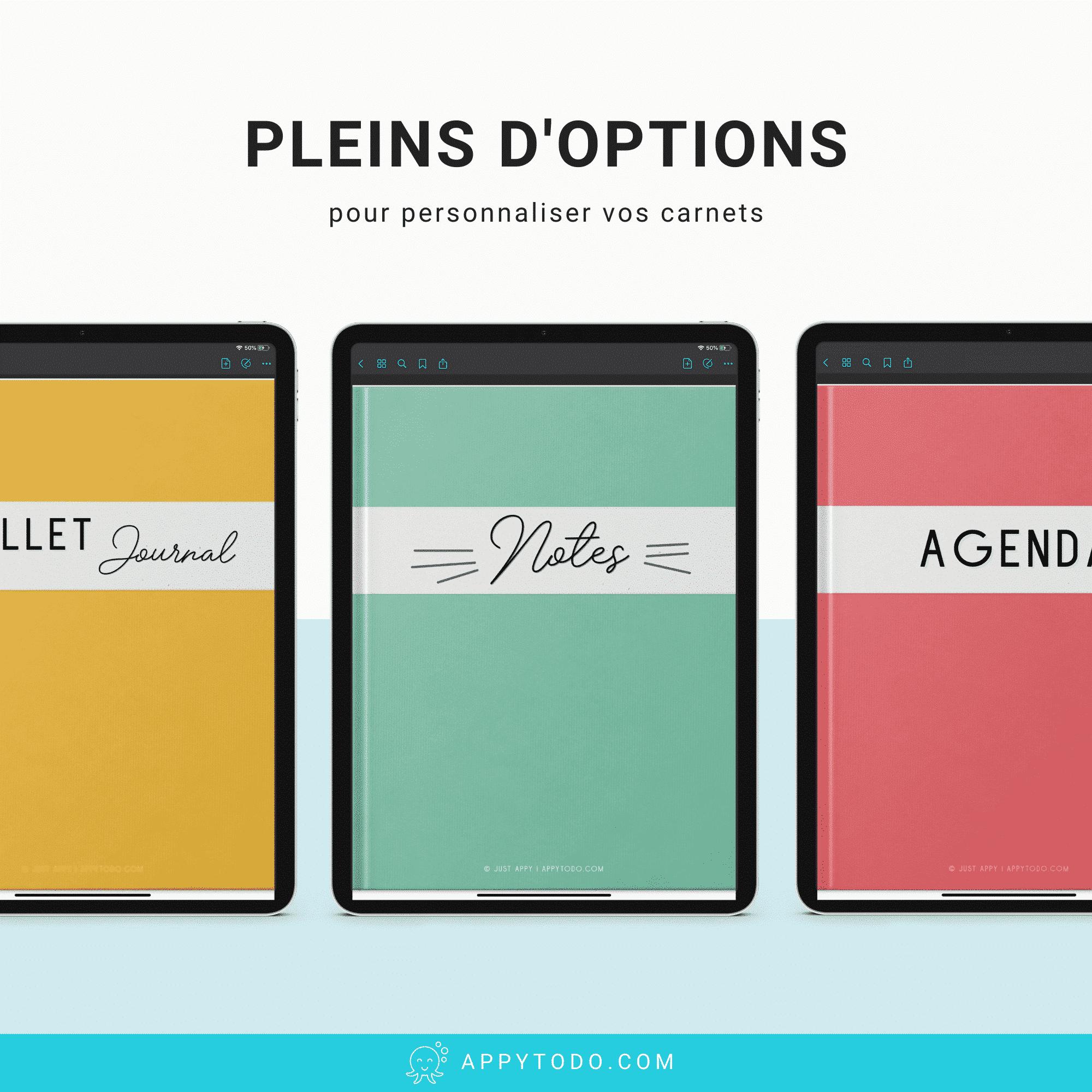 Personnaliser la couverture de vos carnets sur Ipad et tablette