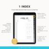 Page Index Bullet journal digital