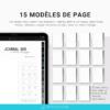 Modèle de page Bullet journal numérique