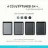 Couverture noir pour journal numérique sur ipad tablette