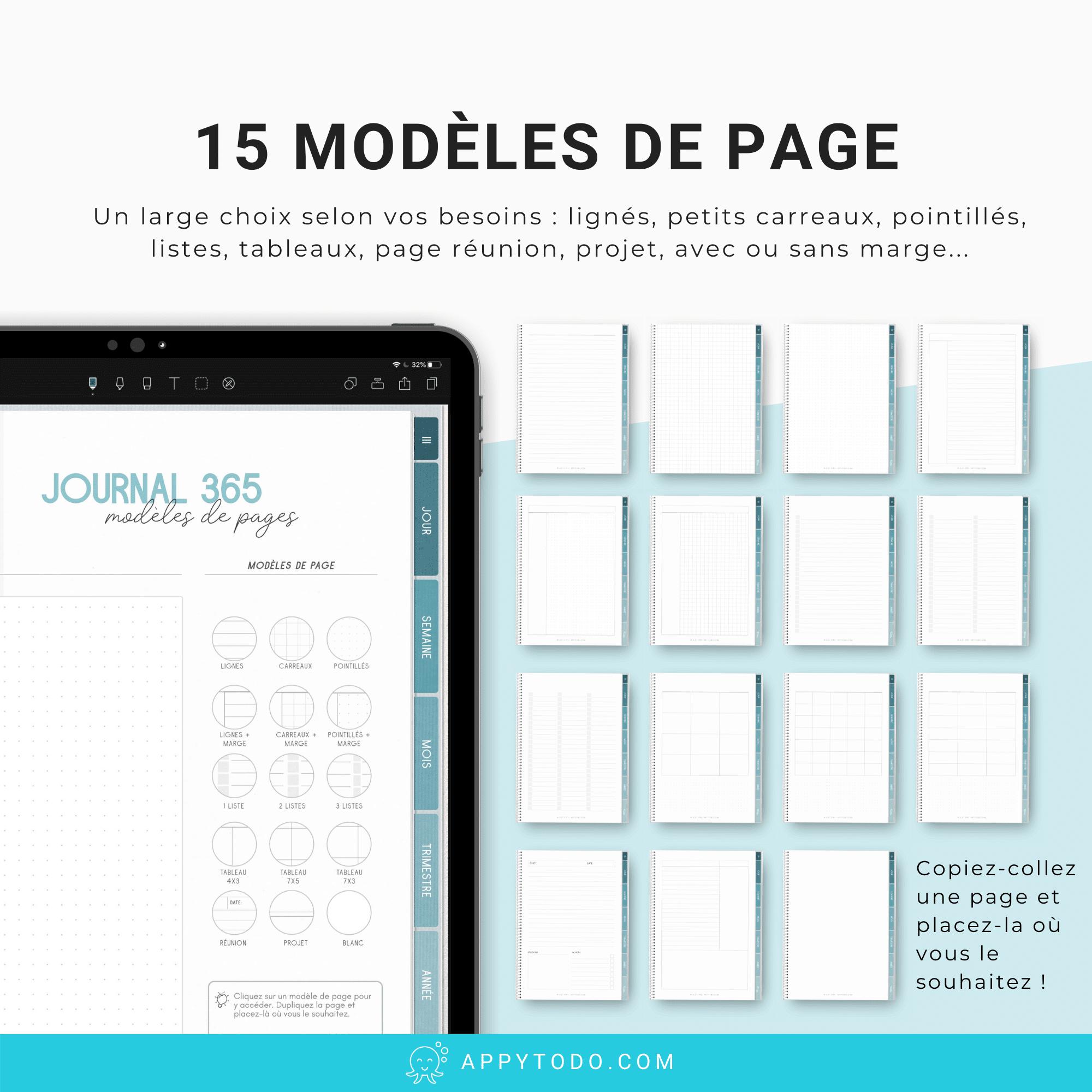 Modèles de page pour journal digital