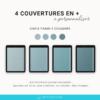 Couvertures numériques avec élastiques pour journal digital