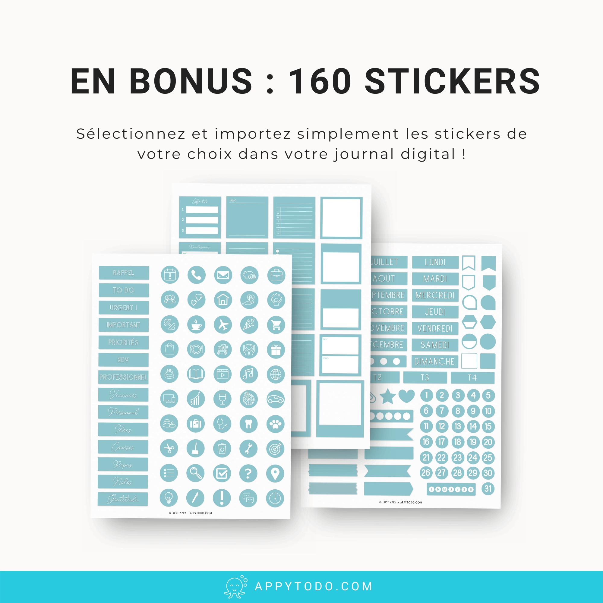 Stickers numériques pour journal digital