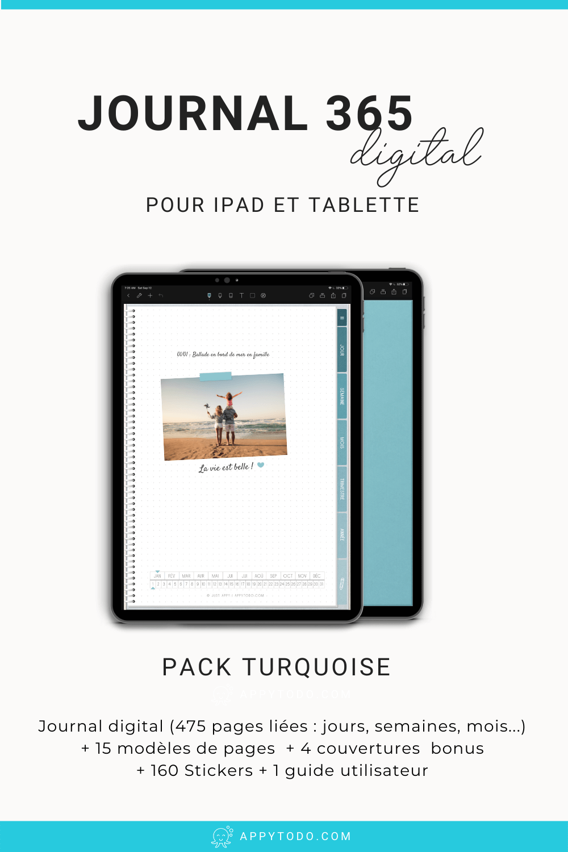 Créez votre bullet journal numérique grâce à ce pack qui comprend un journal digital interactif, 160 stickers, 4 couvertures numériques, et 1 guide en français idéal pour débuter. À découvrir dans la boutique de appytodo. #bulletjournal #kit #francais via @catherineappytodo