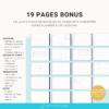 Des modèles de pages en français pour votre planner digital