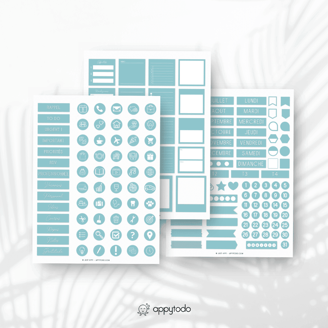 Stickers pour planner digital