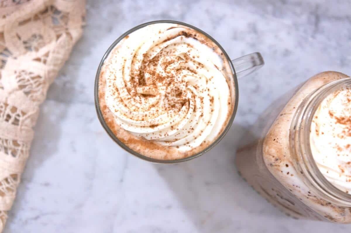 Chocolat chaud en hiver