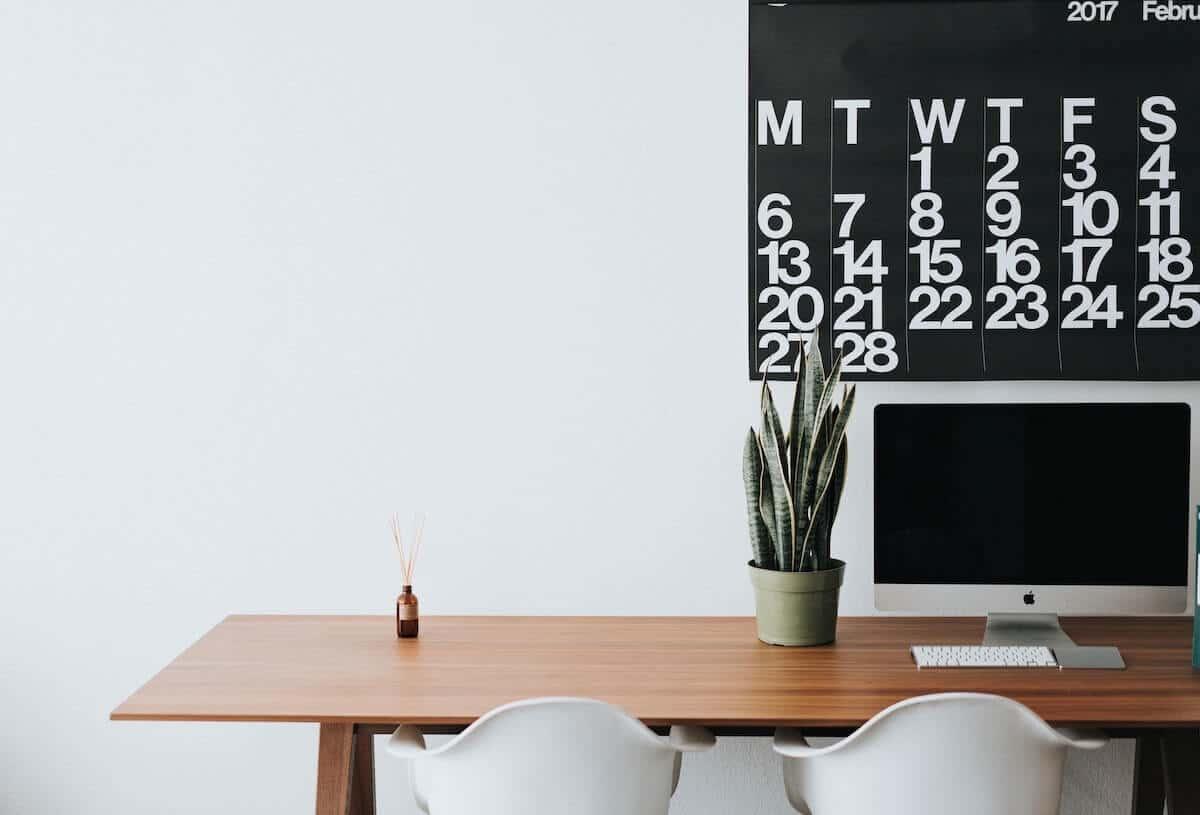 Ordinateur et calendrier