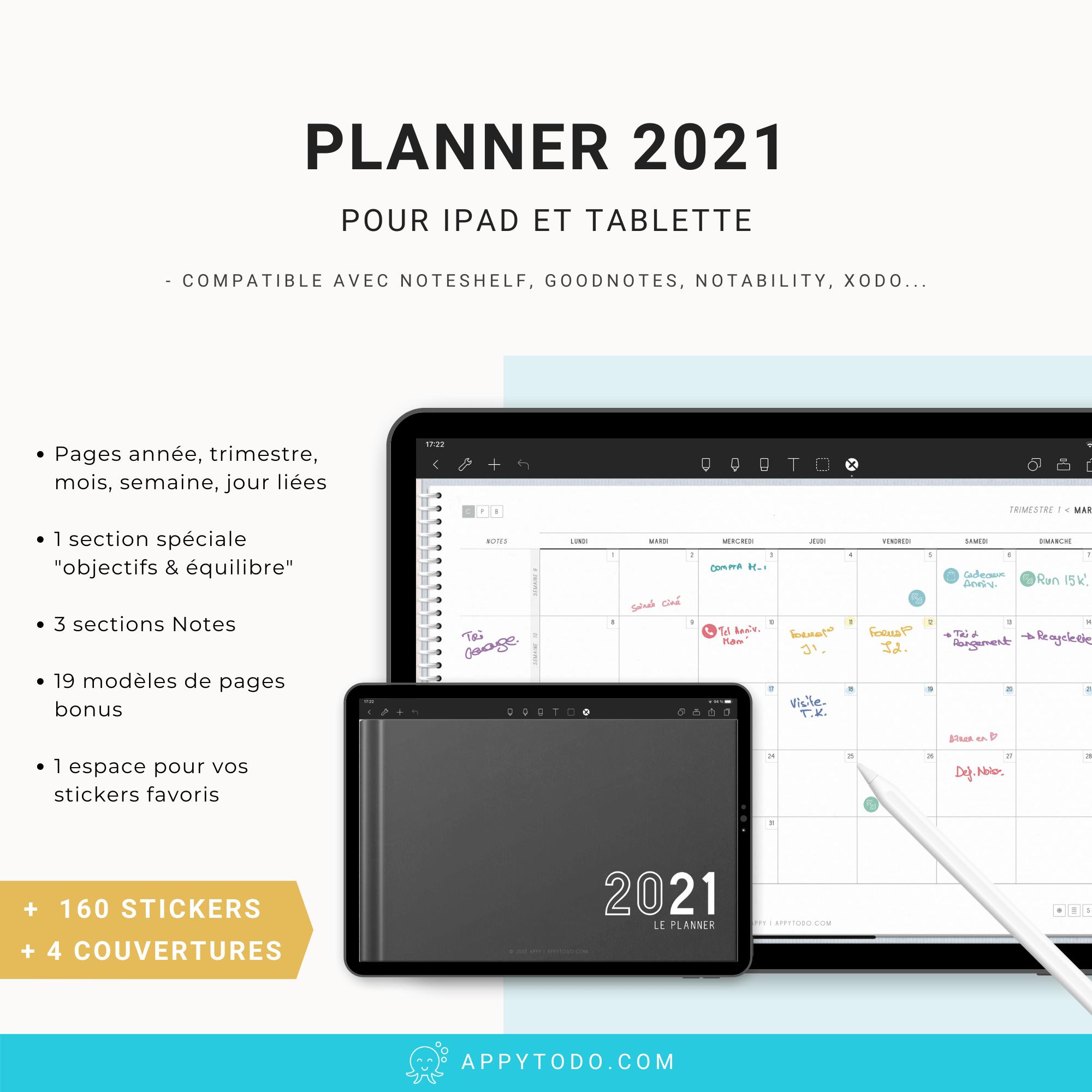 Planner digital 2021 en français