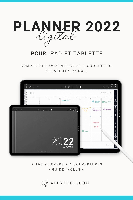 Découvrez le pack Planner digital 2022 en français. Compatible Noteshelf, GoodNotes, Notability, Xodo… Inclus : 160 stickers numériques, 4 couvertures bonus, 19 modèles de pages, 1 planner interactif et 1 guide utilisateur en français. Idéal pour débuter si vous avez une tablette et un stylet. #planner #digital #2022 via @catherineappytodo