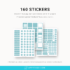 Pack 160 stickers et planner digital 2022