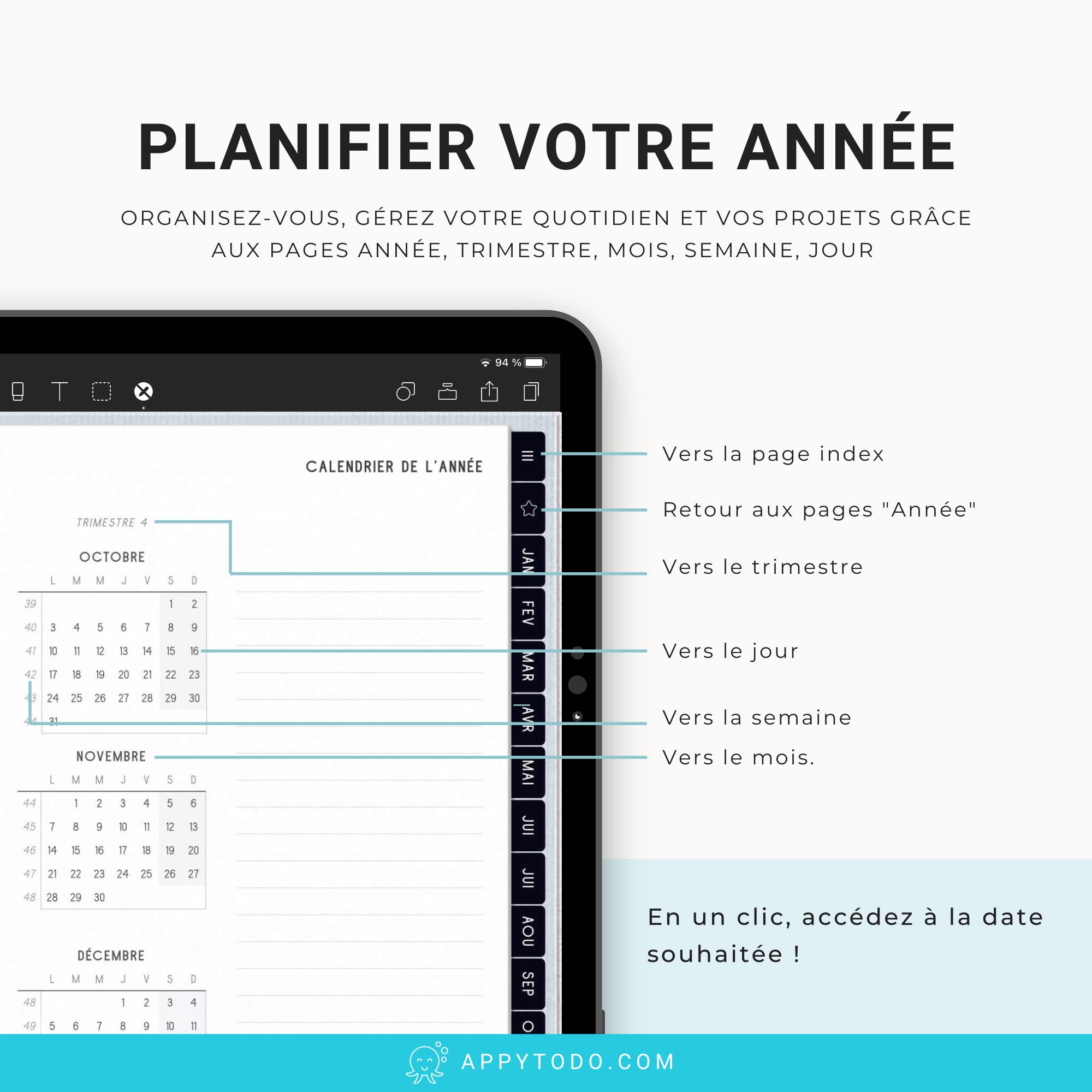 Planner digital 2022 en français