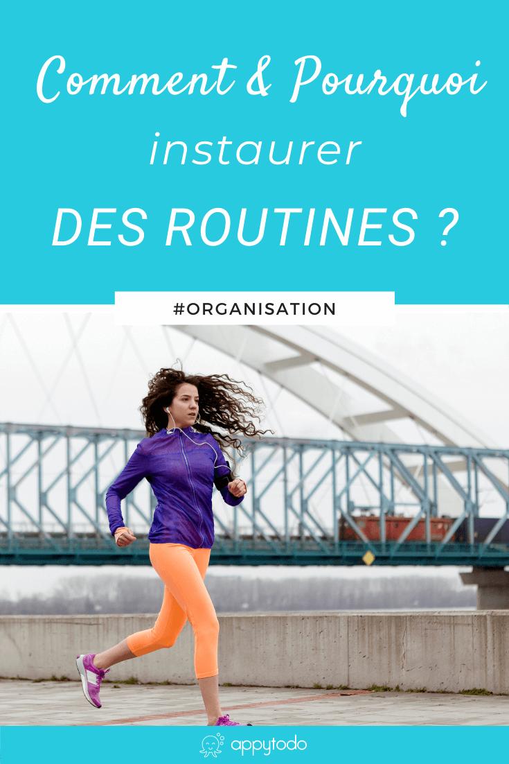 Les routines : qu'est-ce que c'est ? à quoi cela sert ? quand et comment les mettre en place efficacement ? Si vous vous posez ces questions, alors cet article est fait pour vous. En particulier, je vous partage 5 étapes pour installer une nouvelle routine et éviter d'abandonner au bout de quelques jours. Ceci est un article du blog de appytodo, le coup de pouce pour une vie pro et perso épanouie.  #routines #habitudes via @catherineappytodo