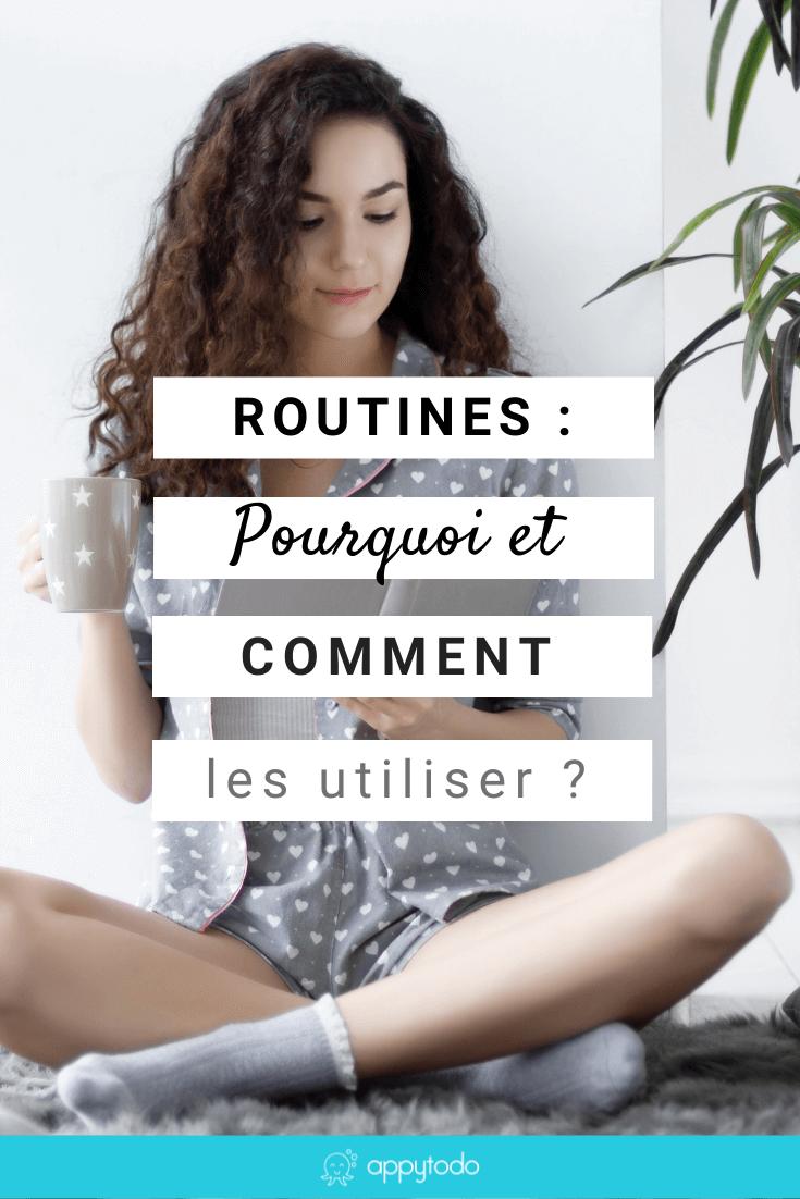 Les routines : qu'est-ce que c'est ? à quoi cela sert ? quand et comment les mettre en place efficacement ? Si vous vous posez ces questions, alors cet article est fait pour vous. En particulier, je vous partage 5 étapes pour installer une nouvelle routine et éviter d'abandonner au bout de quelques jours. Ceci est un article du blog de appytodo, le coup de pouce pour une vie pro et perso épanouie.  #routines #habitude via @catherineappytodo